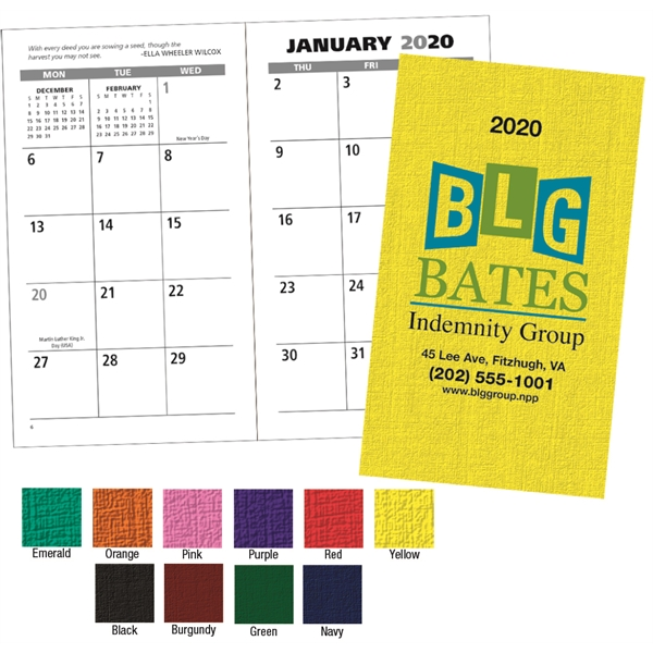 Value Monthly Pocket 2020 Planner