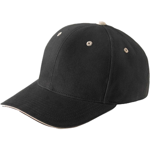 Yupoong 6-Panel Brushed Cotton Twill Mid-Profile Cap