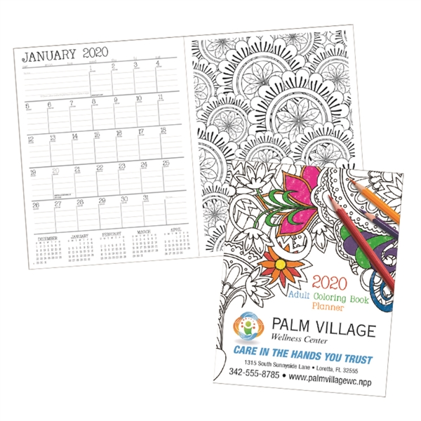 Adult Coloring Book 2020 Standard Planner