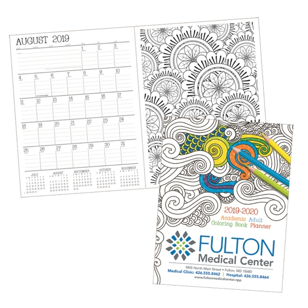 Adult Academic Coloring Book Planner