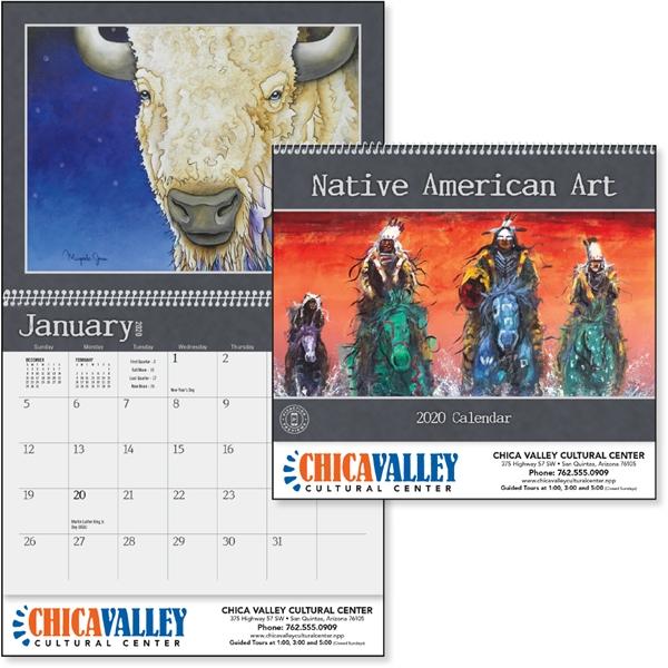 Native American Art 2020 Calendar