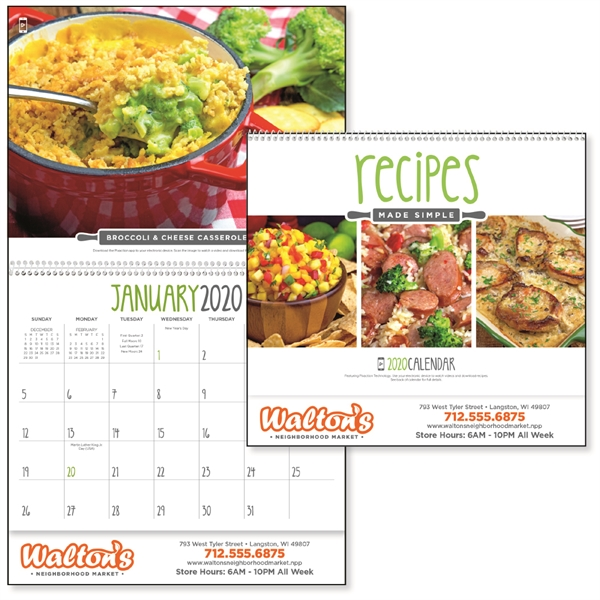 Recipes Made Simple 2020 Calendar