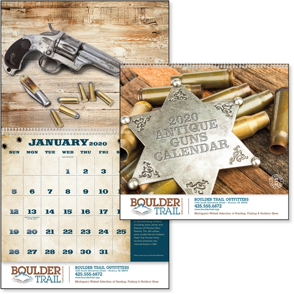 Antique Guns 2020 Calendar