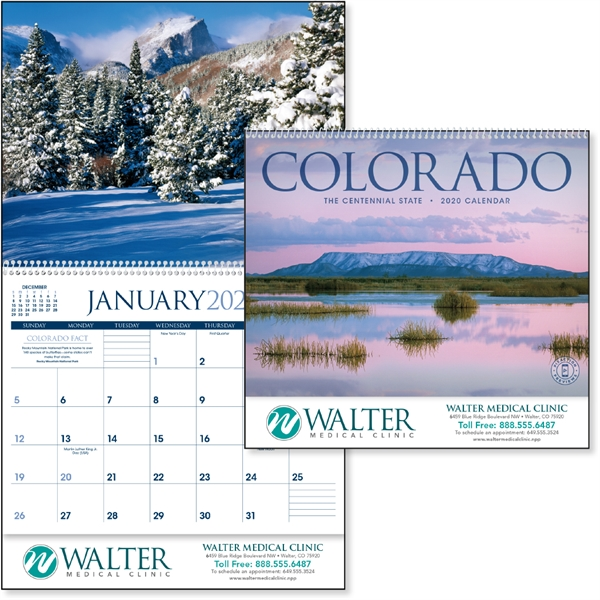 Colorado 2020 Calendar