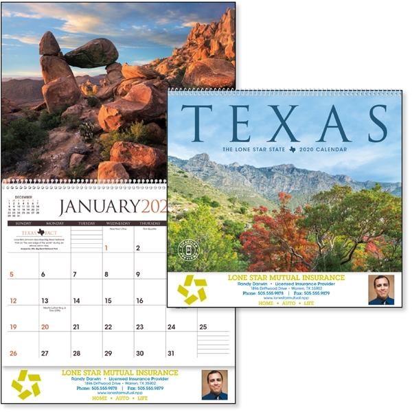 Texas 2020 Calendar