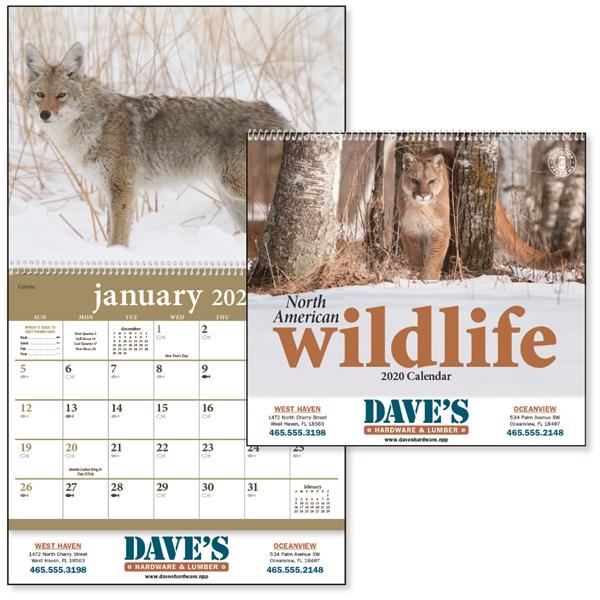 North American Wildlife 2020 Calendar