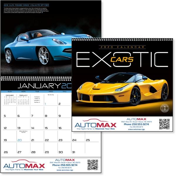 Exotic Cars 2020 Calendar