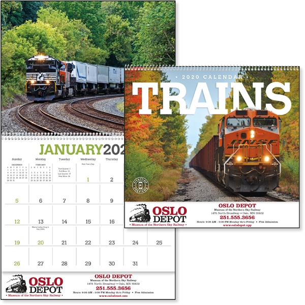 Trains 2020 Calendar
