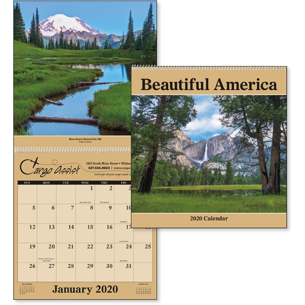 Beautiful America 2020 Calendar