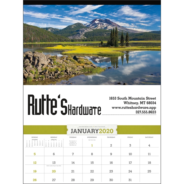 American Splendor 2020 Calendar with Date Blocks
