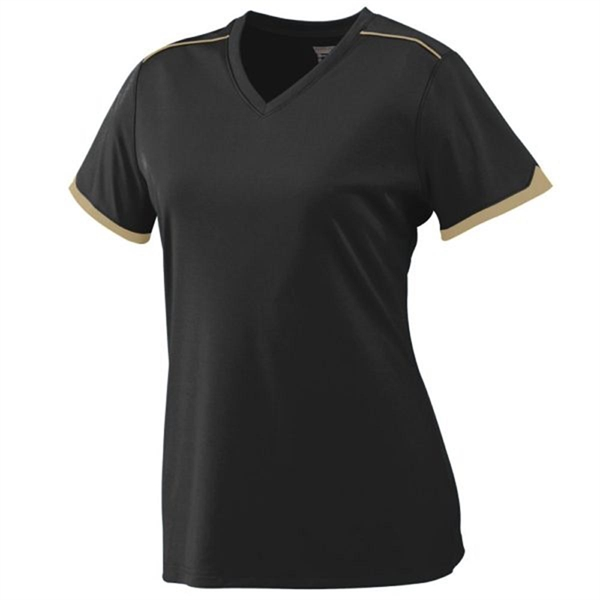 Augusta Ladies Wicking T-Shirt with Contrast Piping