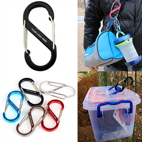 S Shaped Carabiner With Double Wire Gate