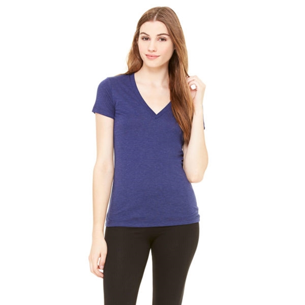 Bella and Canvas Ladies Triblend Short Sleeve V-Neck T-Shirt