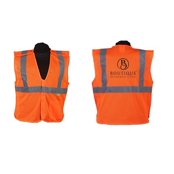 Orange safety vest, ANSI class 2 (med - 5xl)