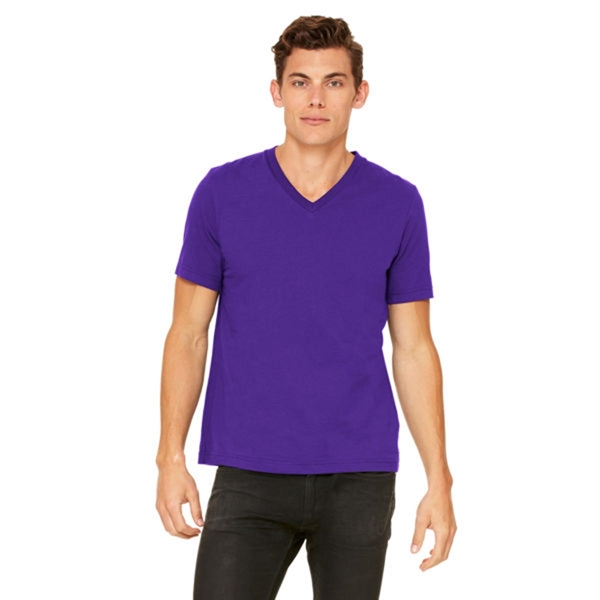 Canvas Unisex 4.2 oz V-Neck Jersey T-Shirt - Dark/Light