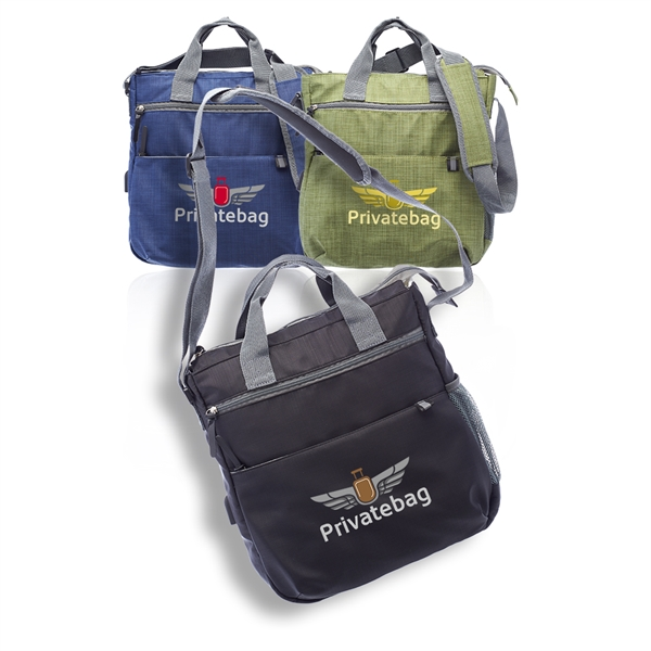 First Class Messenger Bag with USB Charg
