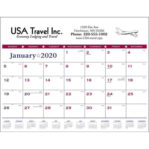 Patriotic 2020 Desk Calendar Pad