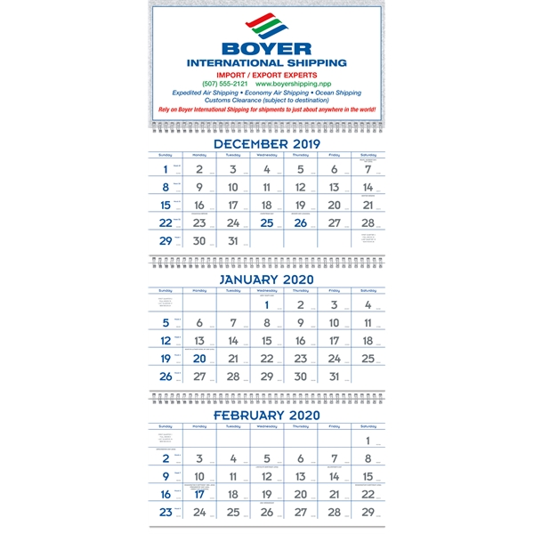 Commercial Planners 2020 Calendar - Blue & Gray