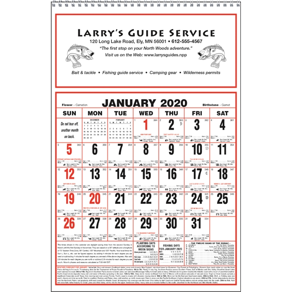 Large Almanac Calendar
