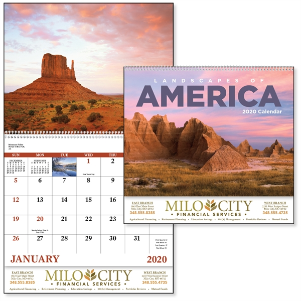 Spiral Landscapes of America Scenic Appointment Calendar
