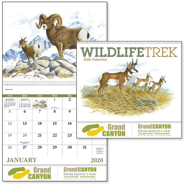 Wildlife Trek Spiral  2020 Appointment Calendar