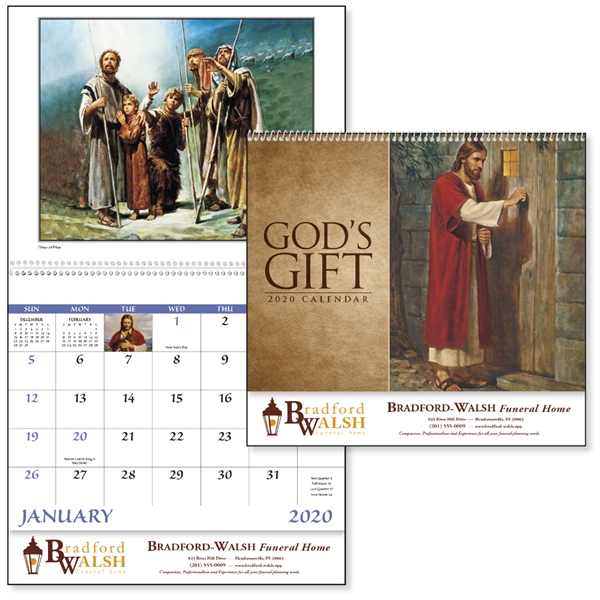 Spiral God's Gift Calendar with Funeral Pre-Planning Form