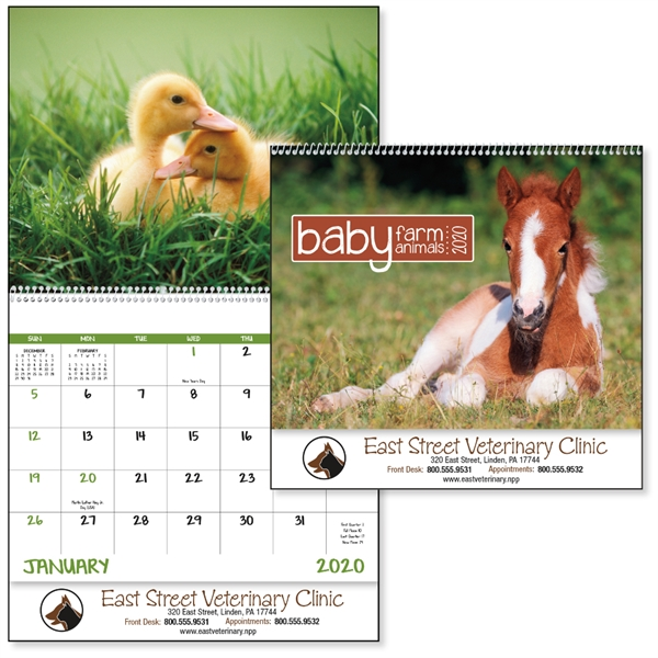 Spiral Baby Farm Animals Lifestyle 2020 Appointment Calendar