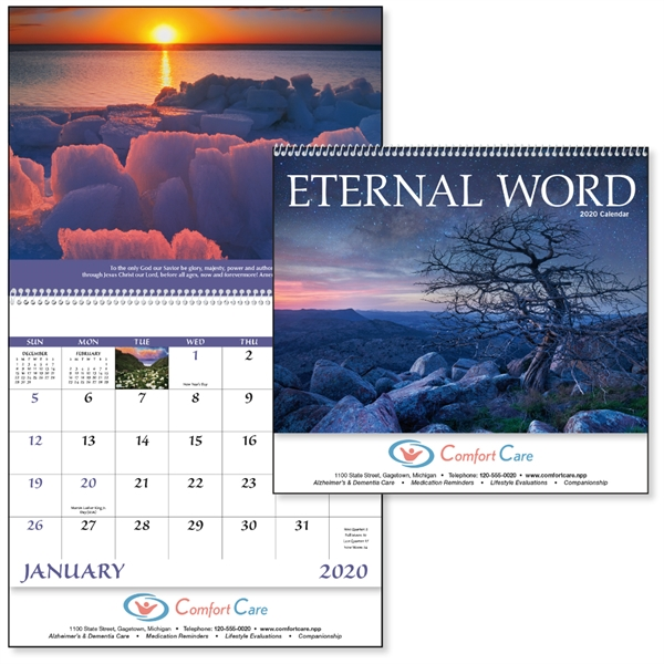 Spiral Eternal Word with Pre-Planning Form 2020 Calendar