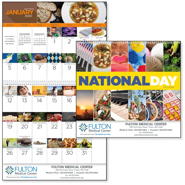 Spiral National Day 2020 Calendar