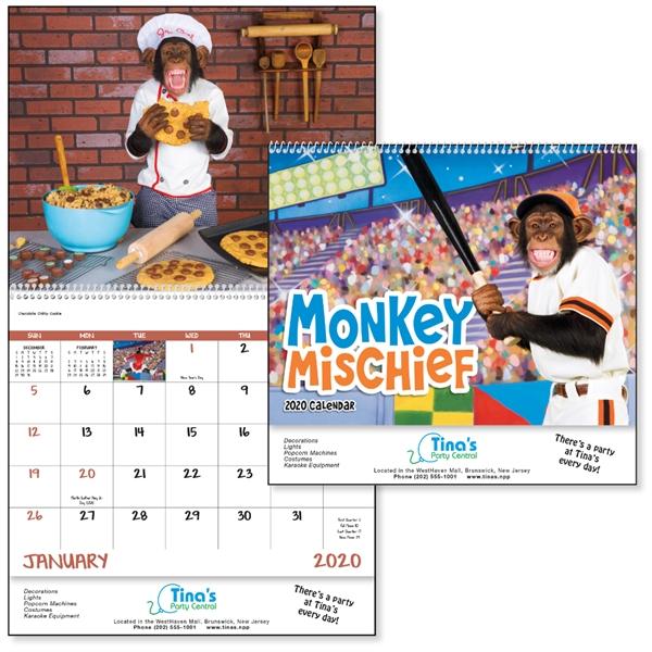 Spiral Monkey Mischief Lifestyle 2020 Appointment Calendar