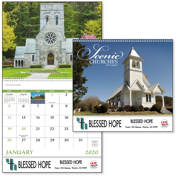 Spiral Churches Scenic 2020 Appointment Calendar
