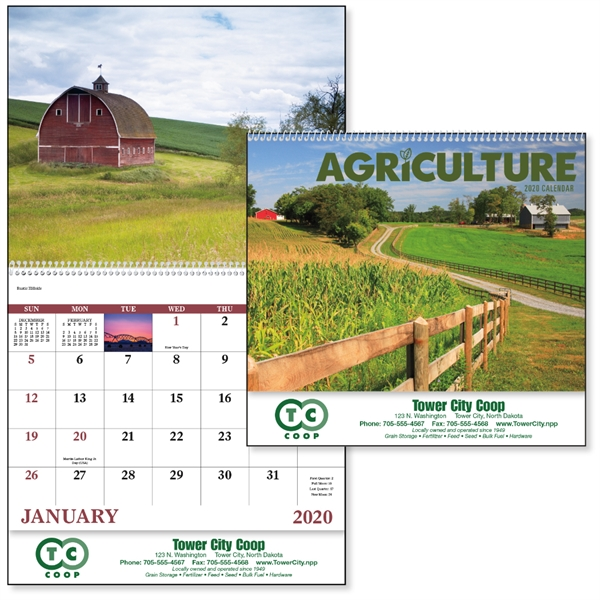 Agriculture - Spiral 2020 Appointment Calendar