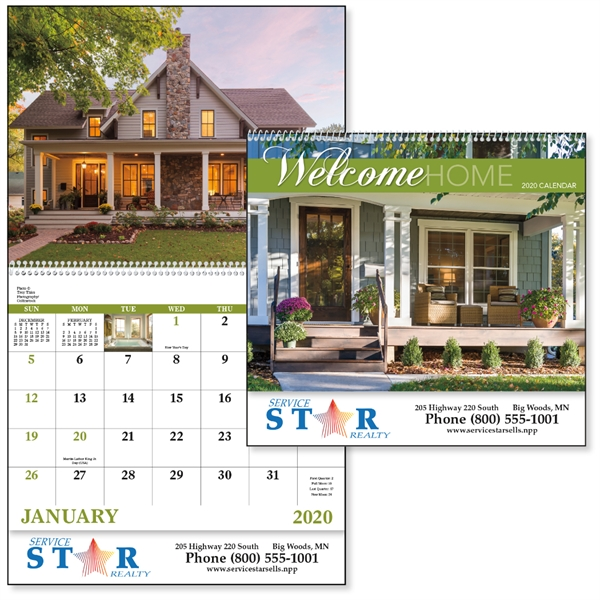 Spiral Welcome Home Lifestyle 2020 Appointment Calendar