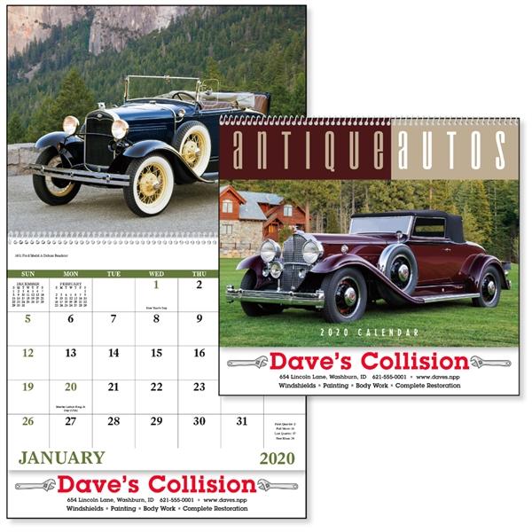 Spiral Antique Autos Vehicle 2020 Appointment Calendar