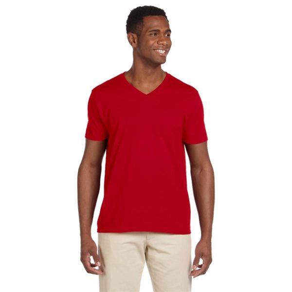 Gildan Adult Softstyle 4.5 oz. V-Neck T-Shirt - Dark/Colors