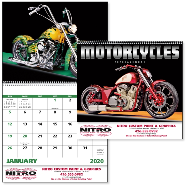 Motorcycles 2020 Calendar