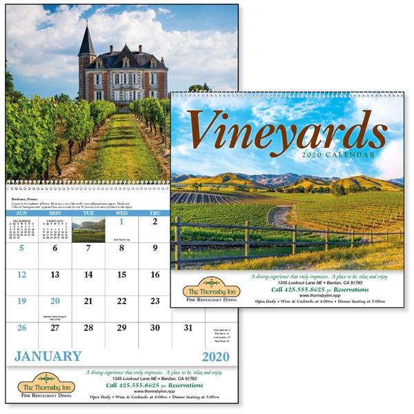 Spiral Vineyards 2020 Appointment Calendar