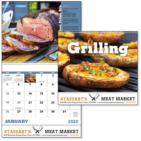 Spiral Grilling 2020 Calendar