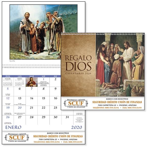 Spiral Regalo de Dios w/ Funeral Pre-Planning Form Calendar