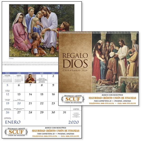 Spiral Regalo de Dios Religious 2020 Appointment Calendar