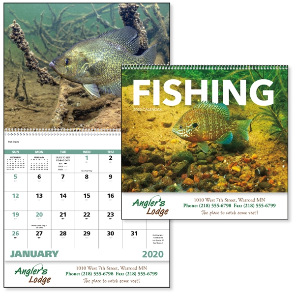 Spiral Fishing Sports/Wildlife 2020 Appointment Calendar