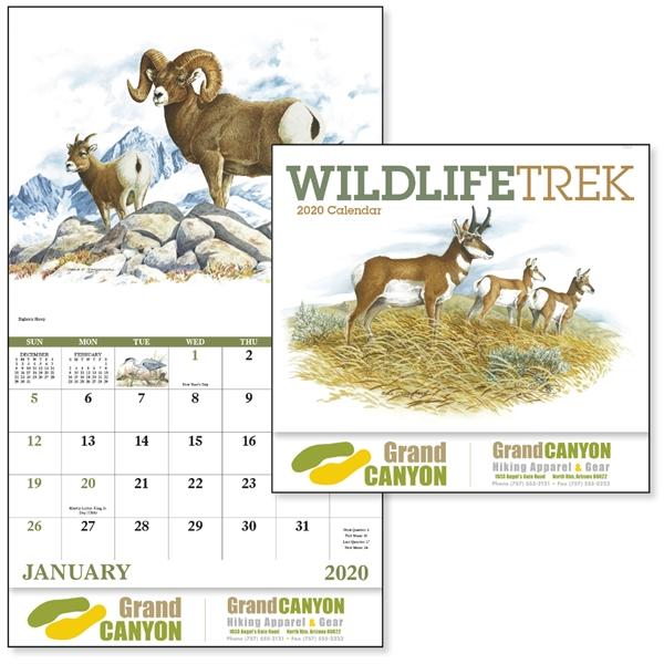 Stapled Wildlife Trek 2020 Appointment Calendar