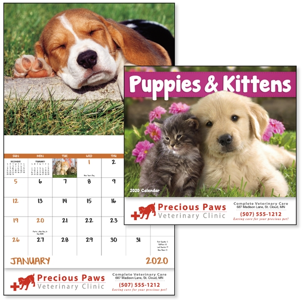 Stapled Puppies & Kittens Lifestyle Appointment Calendar