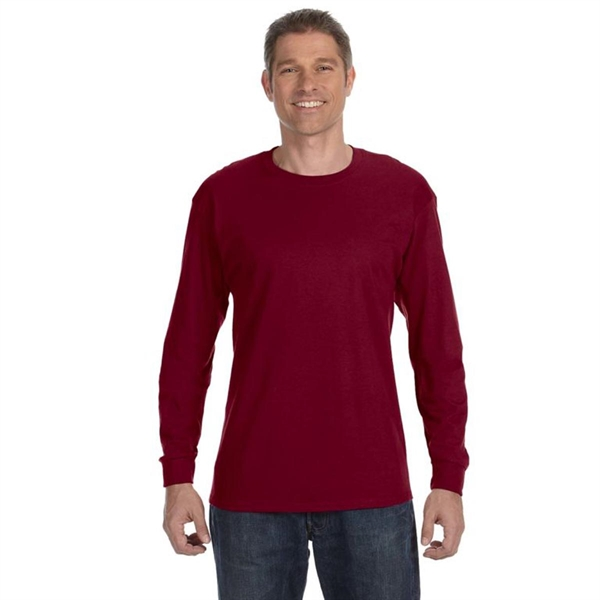 Gildan Heavyweight Cotton Long Sleeve Tee - Dark/Color