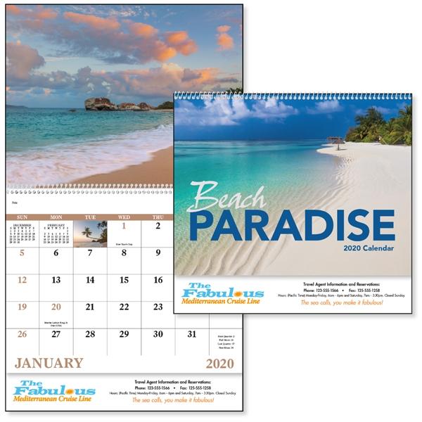 Beach Paradise 2020 Calendar