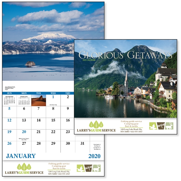 Stapled Glorious Getaways Scenic 2020 Appointment Calendar