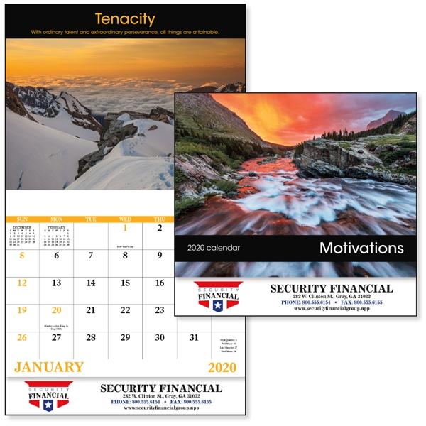 Stapled Motivations Inspirational 2020 Appointment Calendar