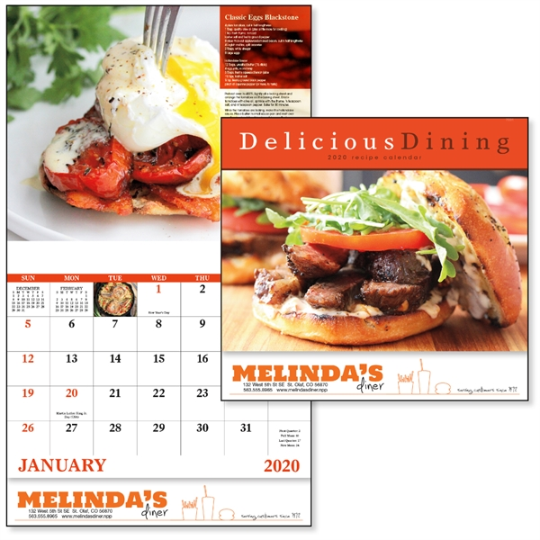 Stapled Delicious Dining Lifestyle 2020 Appointment Calendar