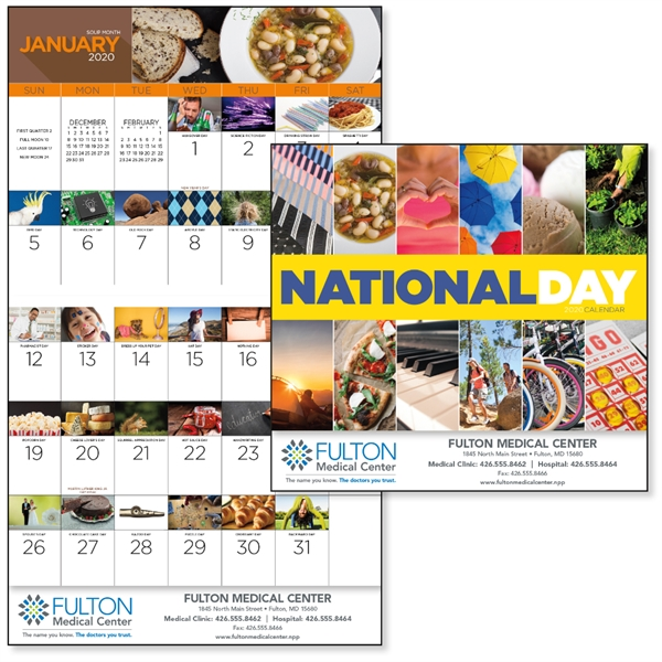 Stapled National Day 2020 Calendar