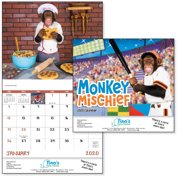 Stapled Monkey Mischief Lifestyle 2020 Appointment Calendar